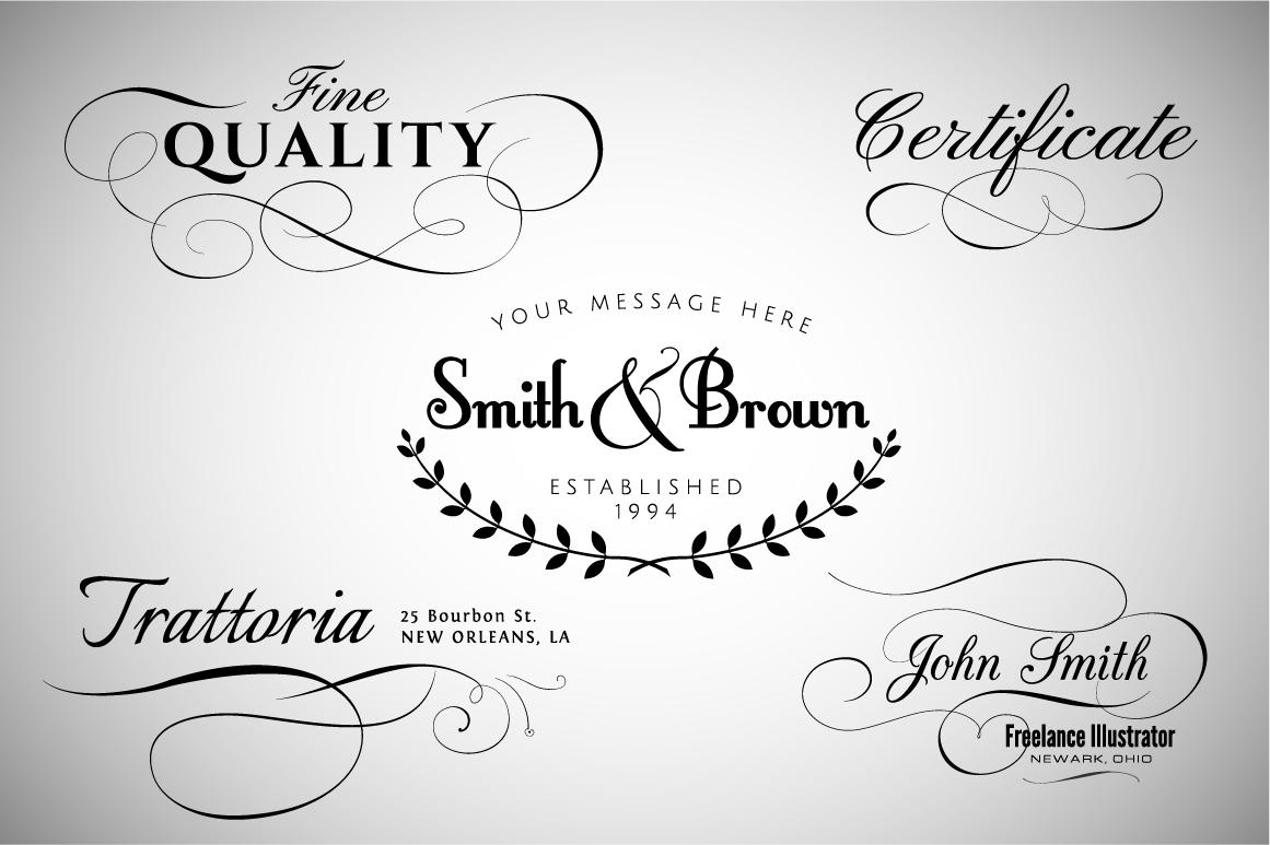 Western Design Elements Calligraphic Design Elements