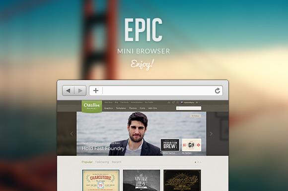 Epic Mini Browser $2