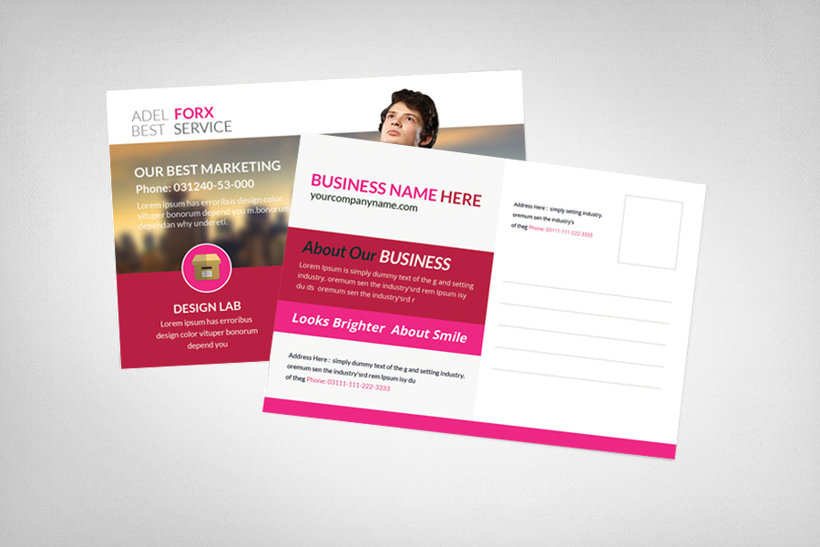 marketing postcard template card templates on creative