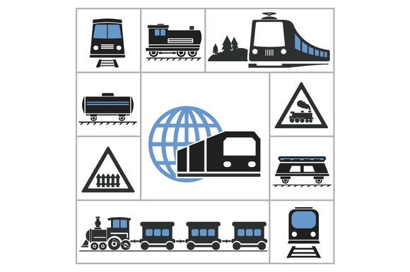 Railway. Set icons - Icons