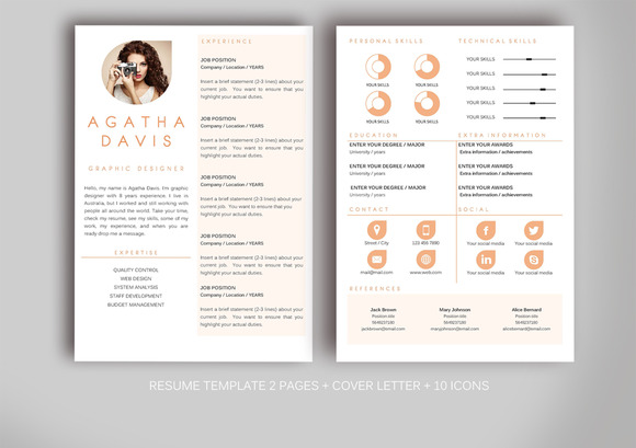 resume template for ms word  resume templates on creative marketresume template for ms word