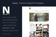 Neaty Portfolio & Blog PSD -Graphicriver中文最全的素材分享平台