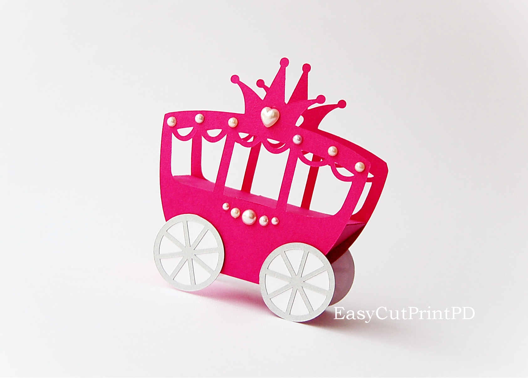 princess carriage box template