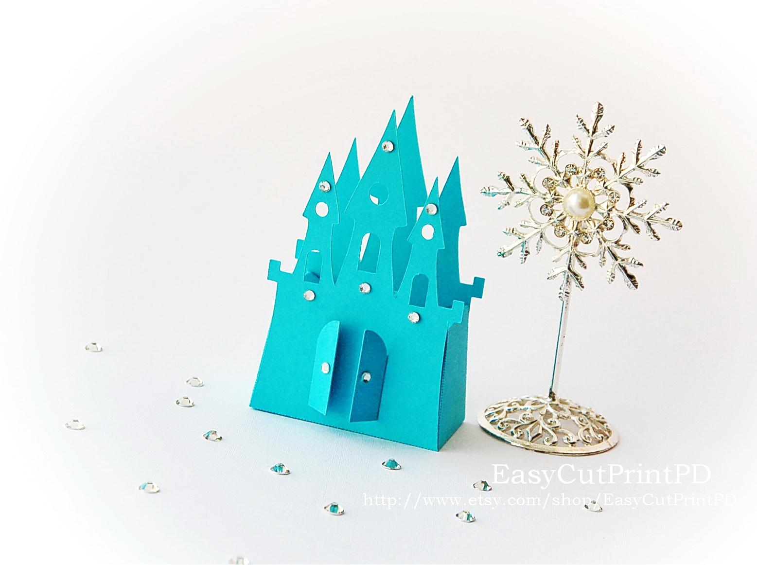 princess frozen castle box template
