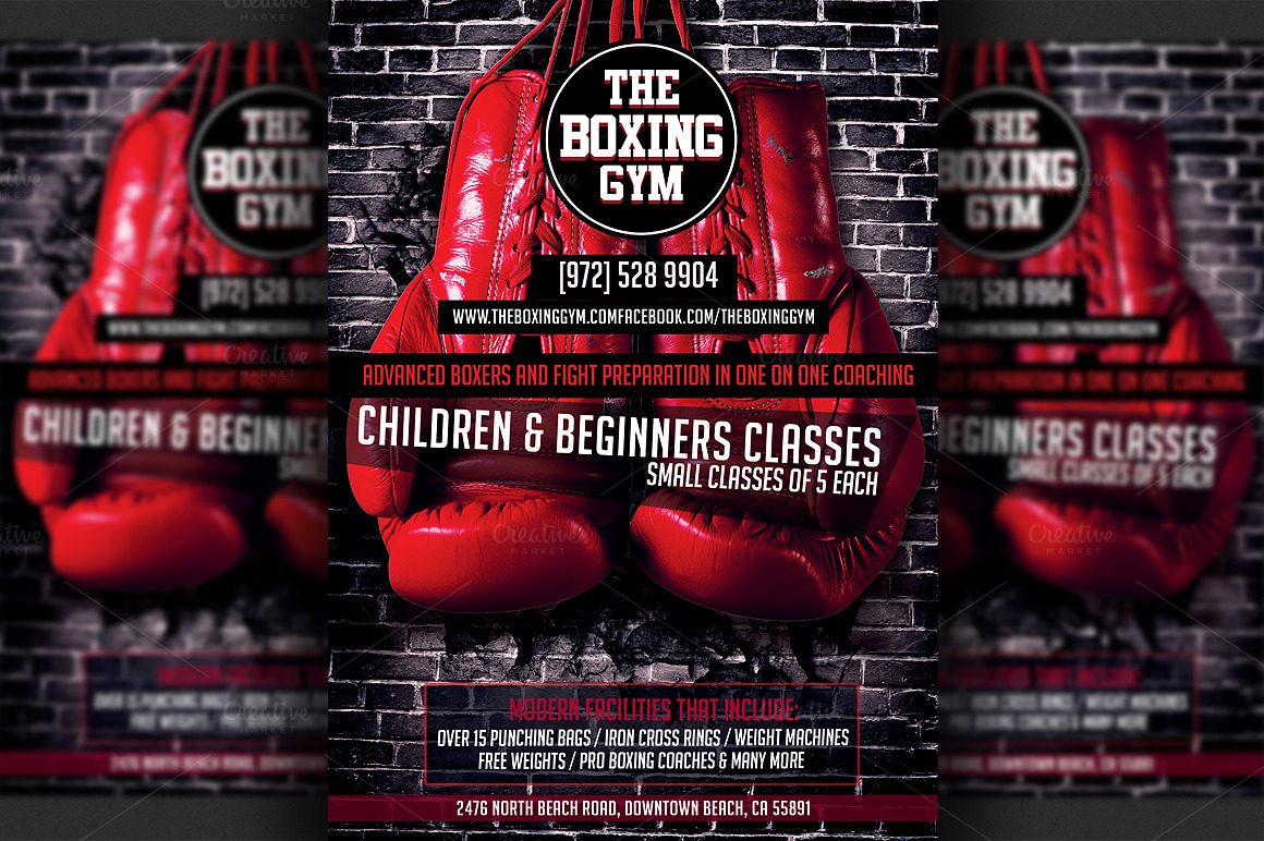 Boxing Gym Flyer Template ~ Flyer Templates on Creative Market