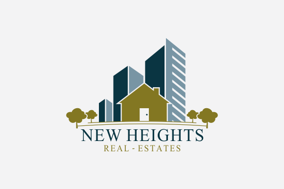 New heights real estate logo logo templates on creative for Modern realtors real estate