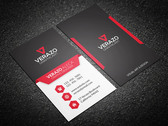 Bold & Modern Business Card Business Card Templates on