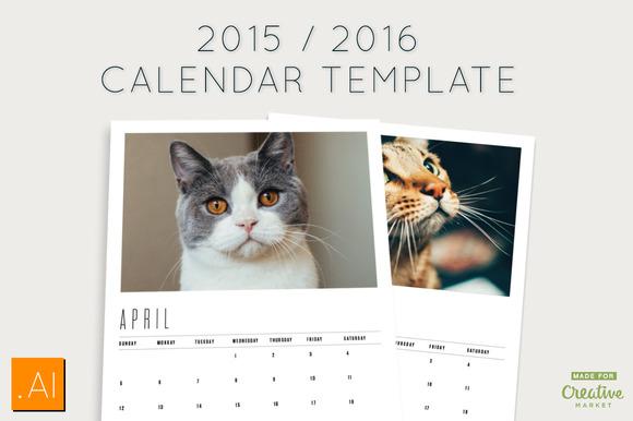 Calendar Templates Creative : Calendar templates on creative market