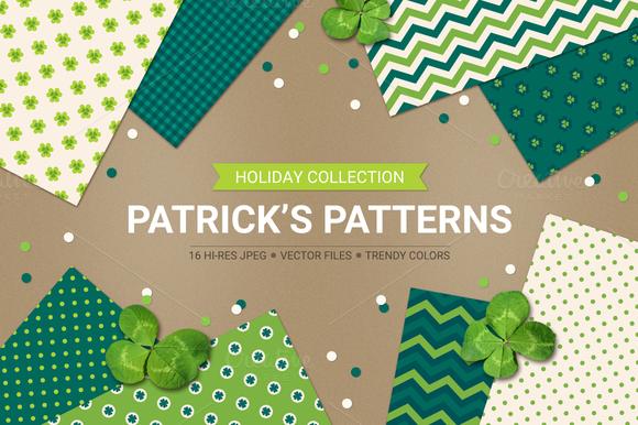 St. Patrick's Day seamless patterns - Patterns