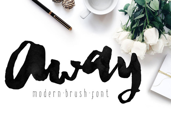 Away Font Modern Brush Calligraphy Display Fonts On