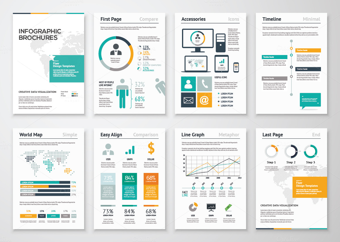 illustrator template brochure - infographic brochures 2 presentation templates on