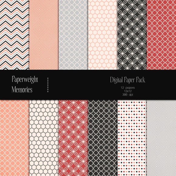 Patterned Paper Salmon River