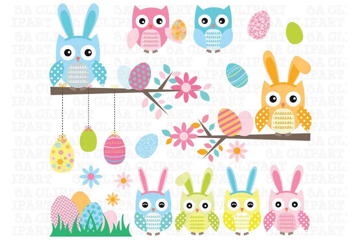 free easter owl clip art - photo #5