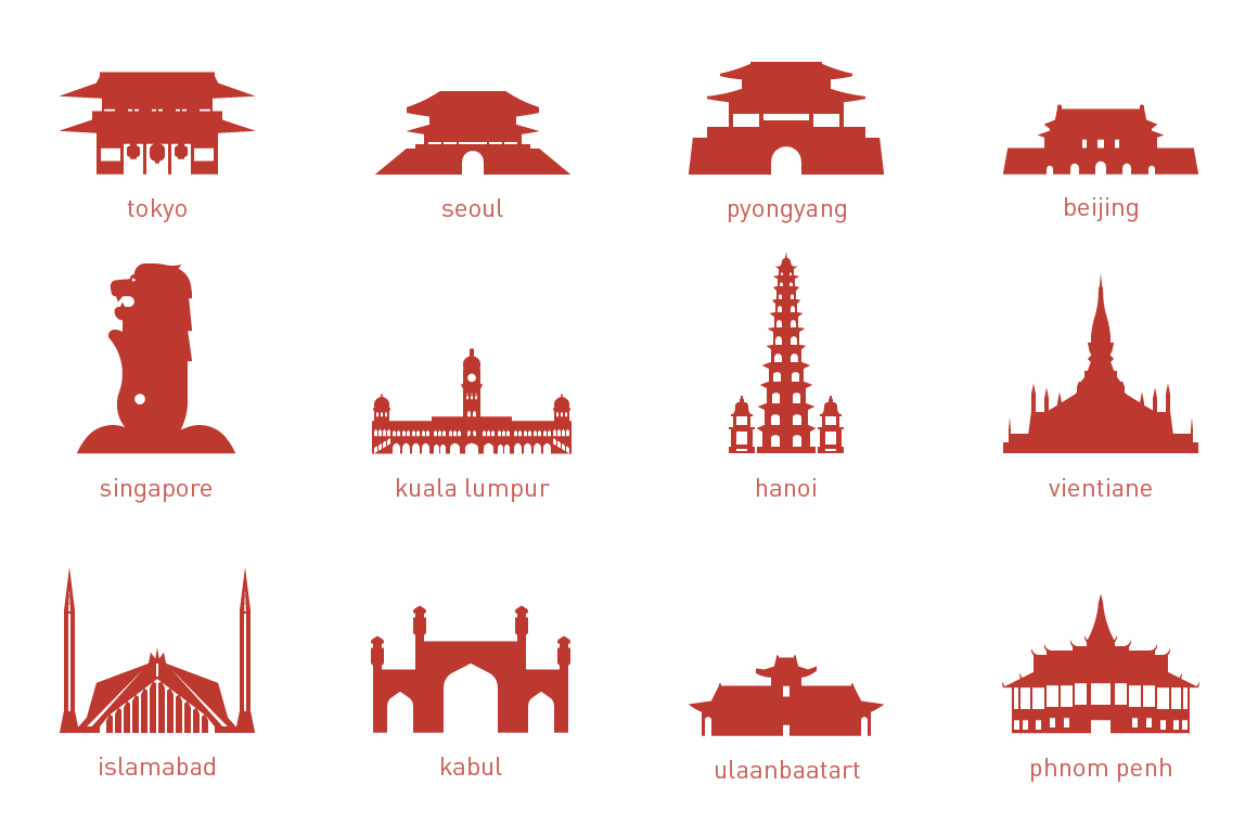 Asian Capital Landmarks ~ Illustrations on Creative Market