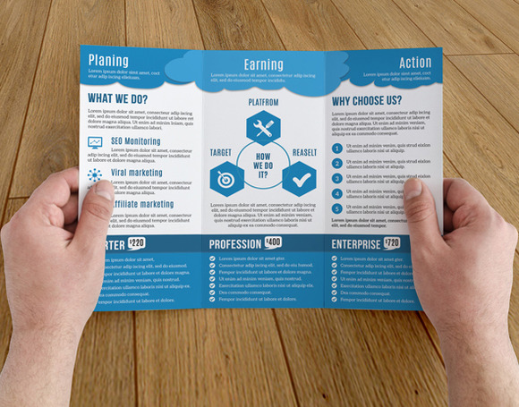 Social marketing brochure sistec for Marketing brochure template