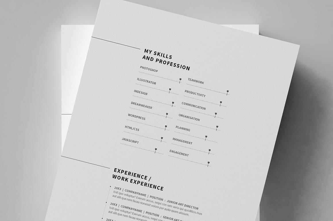 12 Pages Minimal Resume Cv Resume Templates On