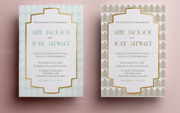 Elegant Wedding Invitation Templates: Elegant Wedding Invitation