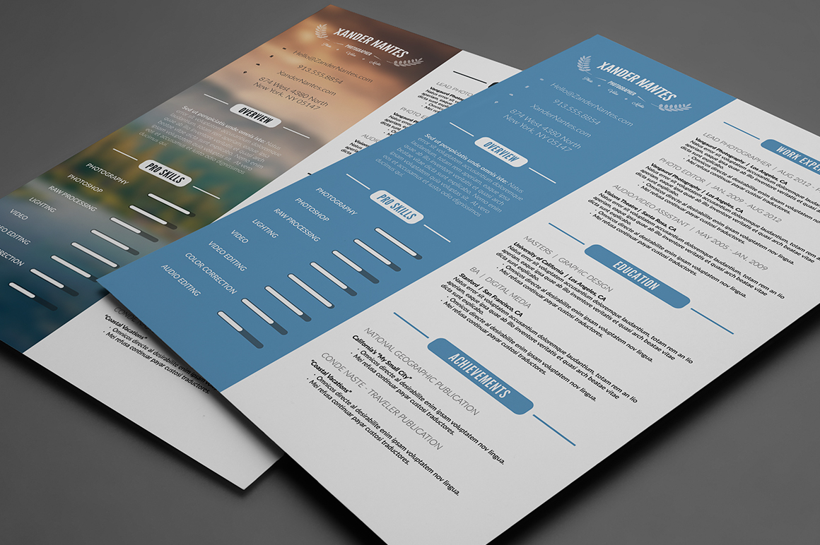 Clean Resume Template PSD Resume Templates on Creative