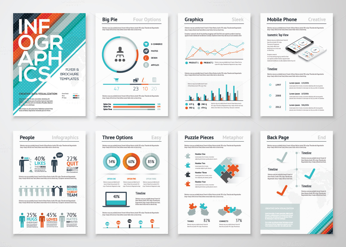 Infographic brochures 3 presentation templates on for Infographic brochure template