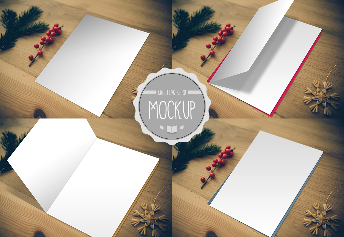 greeting card mockup  product mockups on creative market
