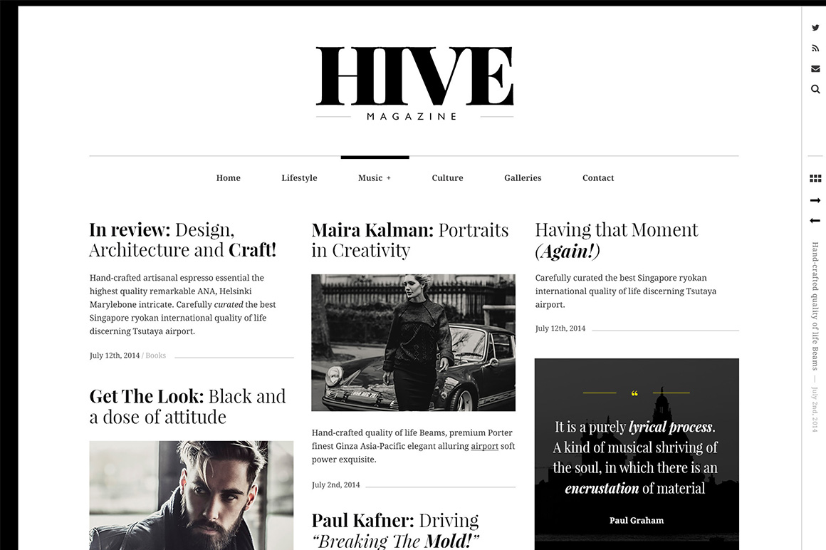 Hive A Magazine Style Theme Wordpress Magazine Themes On Creative Market