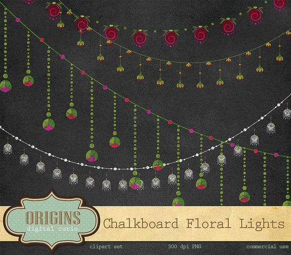 String Of Lights Illustration : Chalkboard String Lights Clipart ~ Illustrations on Creative Market