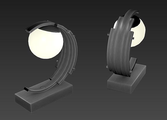 Desk Lamp 02 - Art Deco