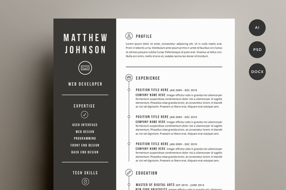 Resume Templates Design Resume & Cover Letter Template