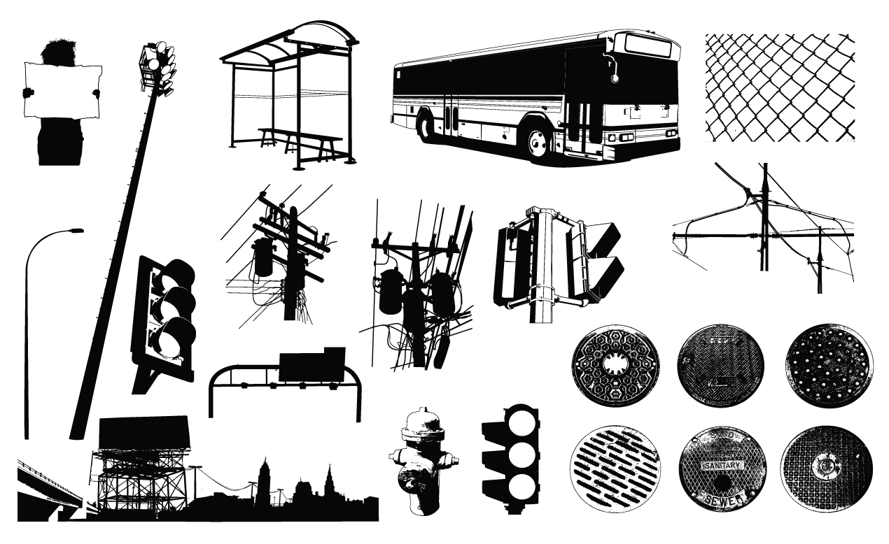 Urban Elements Vector Pack Illustrations On Creative Market