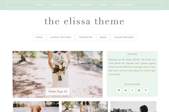 Elissa WordPress Genesis Child Theme - Photography