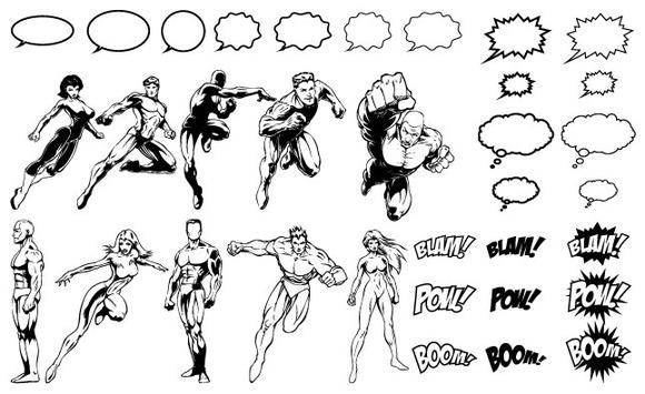 Superheroes Vector Pack ~ Illustrations on Creative Market