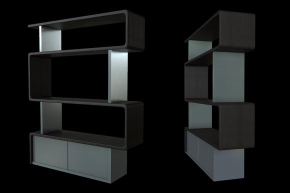 Modern / Bauhaus Style Bookshelf