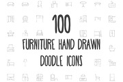 100 Furniture Hand Drawn Do-Graphicriver中文最全的素材分享平台