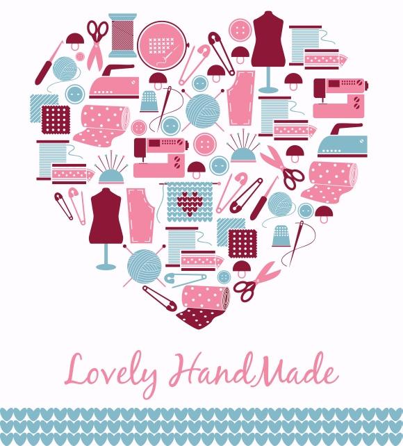 Lovely handmade. Heart shape sign - Illustrations