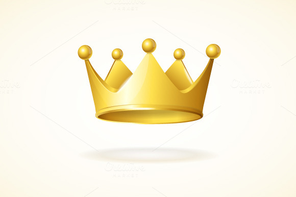 Vector Set Of Royal Crowns
