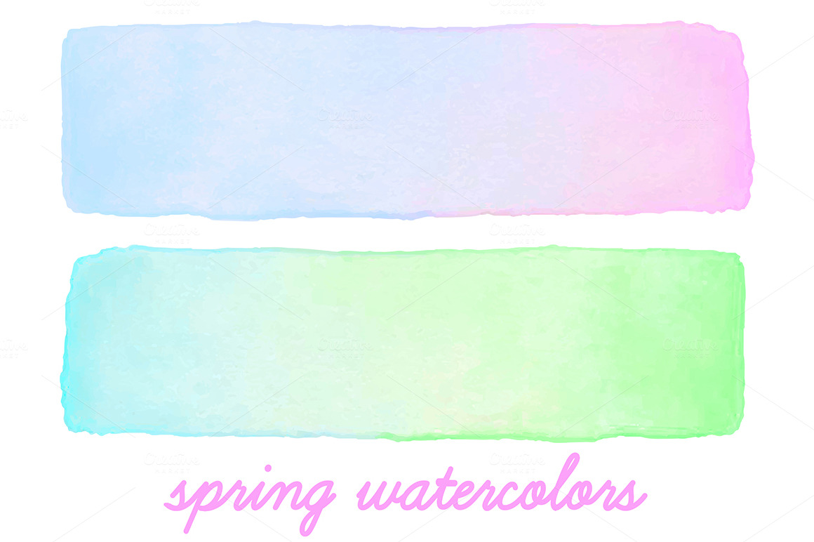 Watercolor Banners Textures On Creative Market