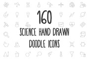 160 Science Hand Drawn Dood-Graphicriver中文最全的素材分享平台