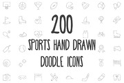 200 Sports Hand Drawn Doodl-Graphicriver中文最全的素材分享平台