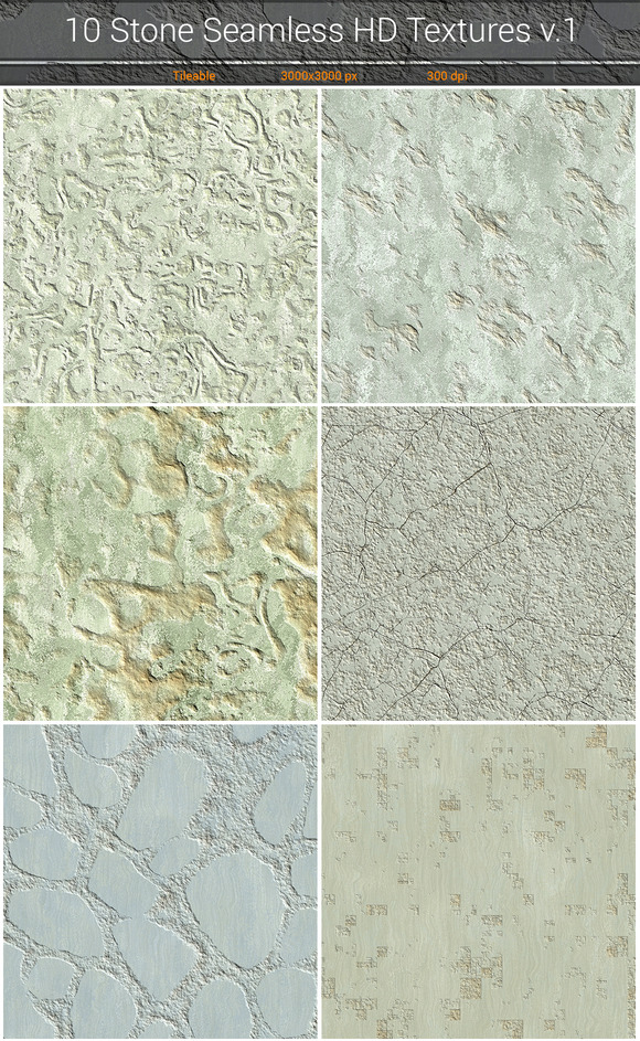 Stone HD Seamless Textures v.1 - Textures