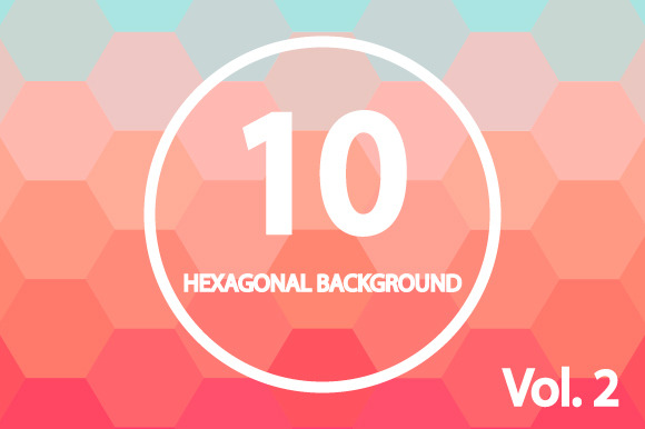 10 Hexagonal Backgrounds. Vol. 2 - Patterns