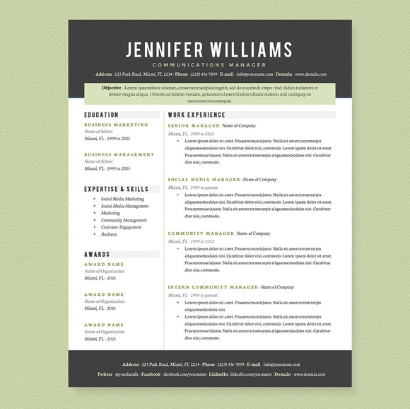 Creative Professional Resume TemplateHow To Create A
