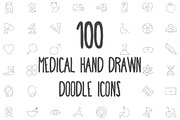 100 Medical Hand Drawn Dood-Graphicriver中文最全的素材分享平台