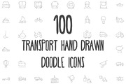 100 Transport Hand Drawn Do-Graphicriver中文最全的素材分享平台