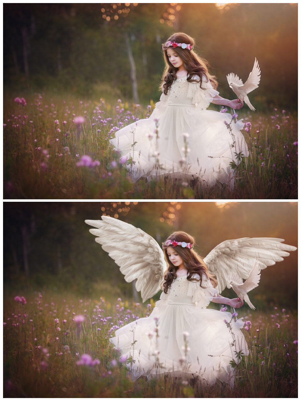 15 white angel wings overlays png
