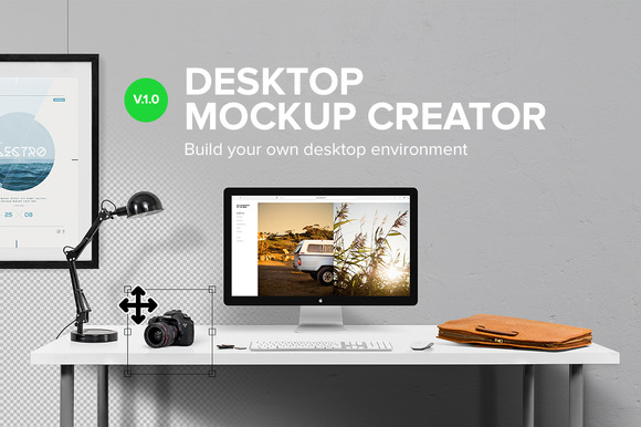 Desktop Mockup Creator ~ Product Mockups on Creative Market: https://creativemarket.com/mocks/164400-Desktop-Mockup-Creator