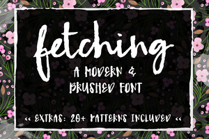 Fetching- A Modern Brush Font