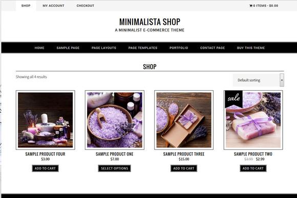 Minimalista Shop // Genesis Theme