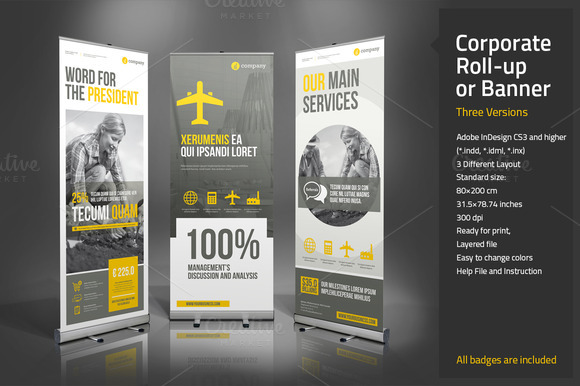 CreativeMarket - Corporate Roll-up or Banner 166083 | Graphic