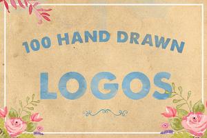 100 Hand Drawn Logos