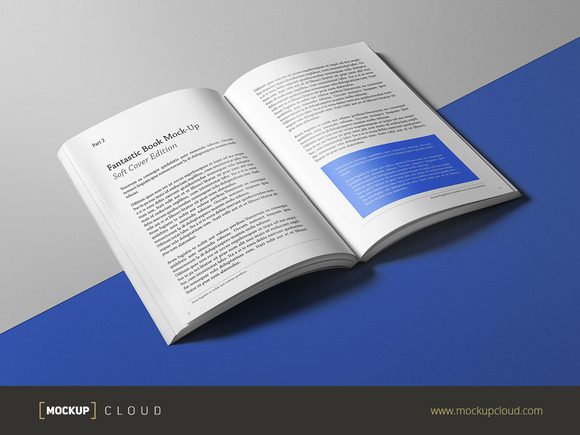 Soft Cover Book Mockup Template ~ Book mock up soft cover edition product mockups on